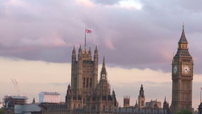 Westminister pałac i Big Ben Zegarowy wierza Londyn UK zbiory