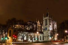 Westminser-Abtei, London, England, nachts Lizenzfreie Stockfotografie