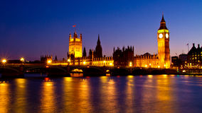 Westminster. This image shows Westminster and Big Ben in night Stock Image