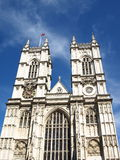Westminster Abbey. West view of Westminster Abbey on a summer day Stock Photography