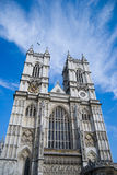 Westminster Abbey. Ancient abbey place in London in front of The Houses of Parlament Royalty Free Stock Photos