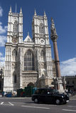 Westminster Abbey. Front facade of Westminster Abbey in London Stock Photos