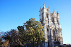 Westminster Abbey. In Westminster, London, England, UK, horizontal photograph with a clear blue sky Stock Photos