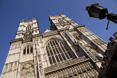 Westminster Abbey. Facade of the Westminster Abbey in London Stock Image