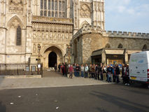 Westminster Abbey 26. April 2011 Stockbilder