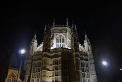 Westminster Abbey. A night view of Westminster Abbey Royalty Free Stock Image