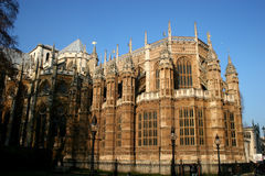 Westminster Abbey. Carved pillars of Westminster abbey, London Royalty Free Stock Photo