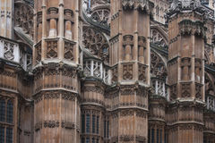 Westminster Abbey. Details of Westminster Abbey north wall Stock Images