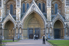 Westminster Abbey being guarded Stock Photography