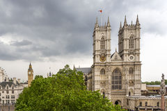 Westminster Abbey with Big Ben in the background Royalty Free Stock Photography