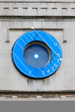 Westminster Abbey, Blue clock - London Royalty Free Stock Image