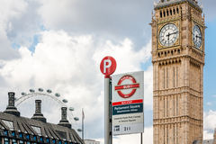 Westminster Abbey bus stop Stock Photos
