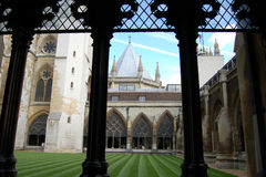 Westminster abbey cloister Stock Image