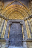Westminster Abbey door stock photography