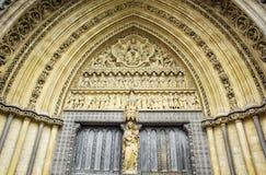 Westminster Abbey door Stock Photo