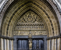 Westminster Abbey Entrance Door Stock Photo