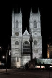 Westminster abbey exponerad vid natt Fotografering för Bildbyråer