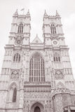 Westminster Abbey Facade, London Royaltyfri Bild