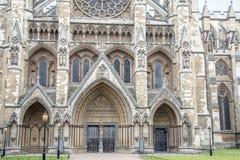 Westminster Abbey Facade, Westminster, Londen Royalty-vrije Stock Afbeeldingen