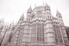 Westminster Abbey Facade, Westminster, London Lizenzfreie Stockbilder