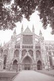 Westminster Abbey Facade, Westminster, London Royaltyfria Bilder