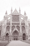 Westminster Abbey Facade, Westminster, London Stock Photography
