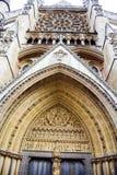 Westminster Abbey, formal betitelt die Collegekirche von St Peter in Westminster, ist eine große, hauptsächlich gotische Abteikir Stockbild