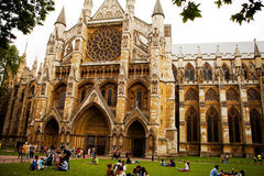 Westminster Abbey, formally titled the Collegiate Church of St Peter at Westminster, is a large, mainly Gothic abbey church Stock Photo