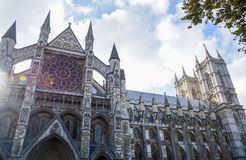 Westminster Abbey - Gothic abbey church in the City of Westminster, London Royalty Free Stock Images