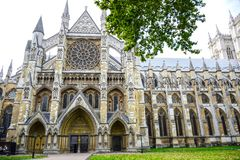 Westminster Abbey, the gothic abbey church in London, England, United Kingdom stock photo