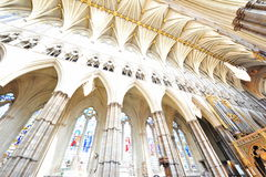 Westminster Abbey gothic interior Stock Photos