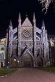 Westminster abbey illuminated by night Royalty Free Stock Photo