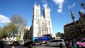 Westminster Abbey include West Door and towers stock video footage