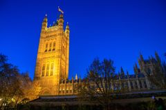 Magnificent Historic buildings in London: Palace of Westminster stock photography