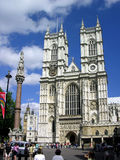 Westminster Abbey in London. Blue sky, tower Stock Photography