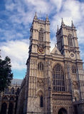 Westminster Abbey in London. With clouds Royalty Free Stock Image