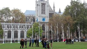 Westminster Abbey in London, England stock video footage