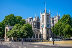 Westminster Abbey in london, england, uk. A large, mainly Gothic abbey church in the City of Westminster, London, England, just to the west of the Palace of royalty free stock photography