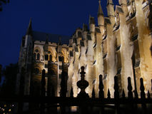 Westminster Abbey nachts Lizenzfreie Stockbilder