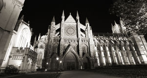 Westminster Abbey at Night Stock Image