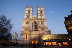 Westminster Abbey at night, London Royalty Free Stock Photography