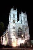 Westminster Abbey på natten Royaltyfria Foton