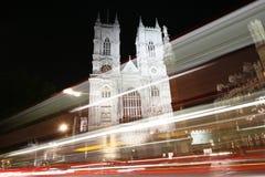 Westminster Abbey på natten Royaltyfri Bild