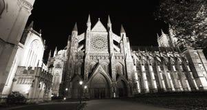 Westminster Abbey på natten Fotografering för Bildbyråer