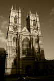 Westminster Abbey Sepia Royalty Free Stock Images
