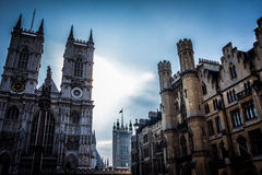 Westminster Abbey. Shot against the sun at Westminster Abbey, London Royalty Free Stock Images