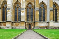 Westminster abbey side door entrance Stock Image