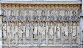 Westminster Abbey Statues Royalty Free Stock Photography