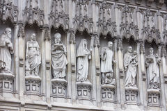 Westminster abbey statues representing the 20th century martyrs Stock Image