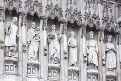 Westminster abbey statues - the 20th century martyrs Royalty Free Stock Photography